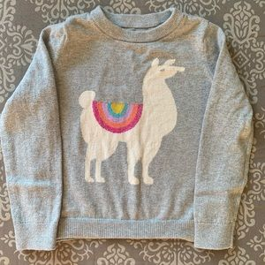 Euc Baby Gap Gray Llama Sweater, Size 5T